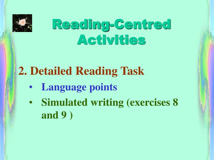 Reading-Centred Activities
