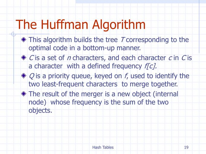 The Huffman Algorithm