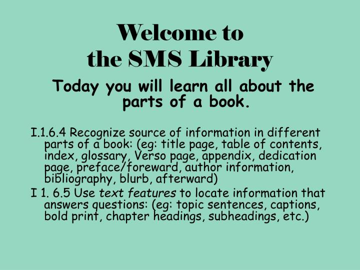Welcome to the sms library l.jpg