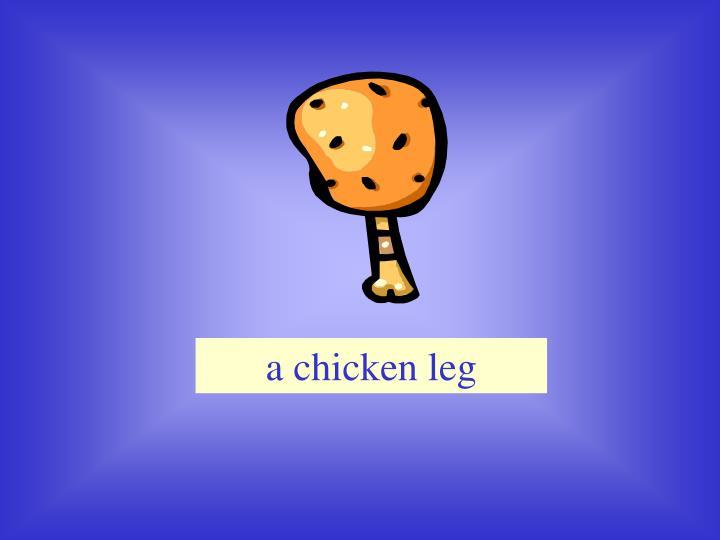 a chicken leg