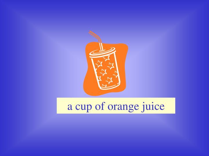 a cup of orange juice