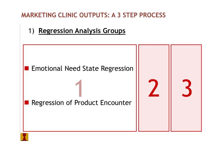 MARKETING CLINIC OUTPUTS: A 3 STEP PROCESS