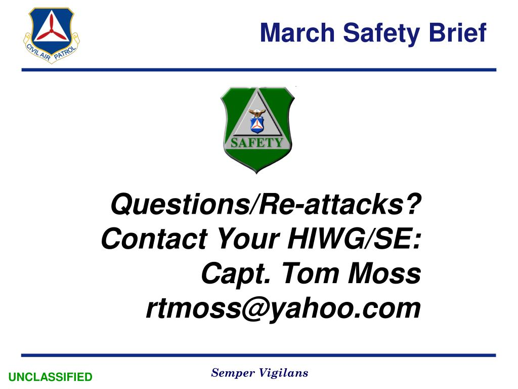 March Safety Brief
