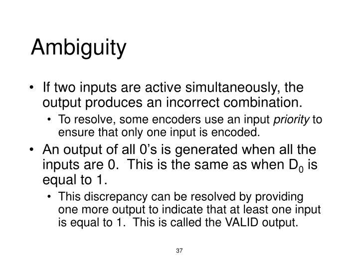 Ambiguity