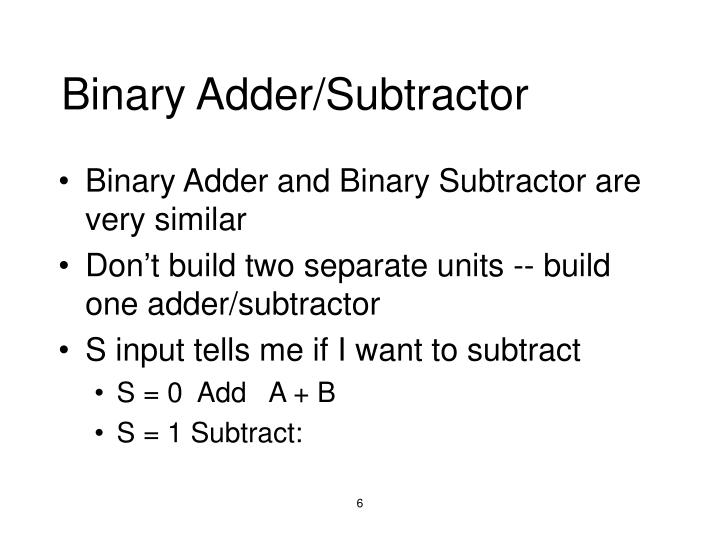 Binary Adder/Subtractor