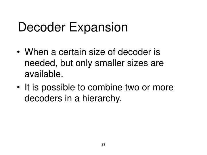 Decoder Expansion