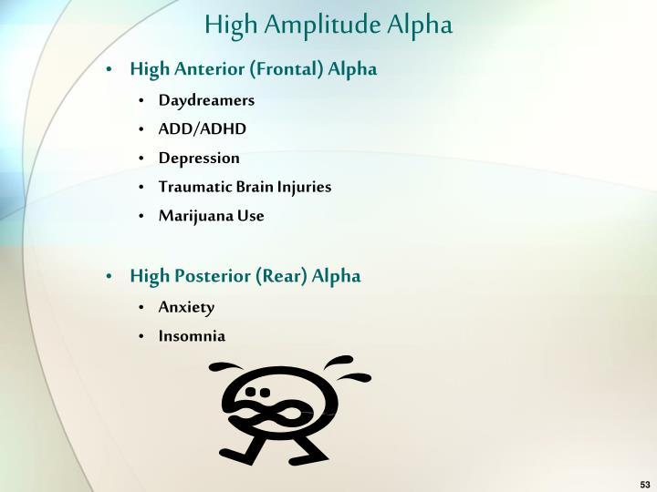 High Amplitude Alpha