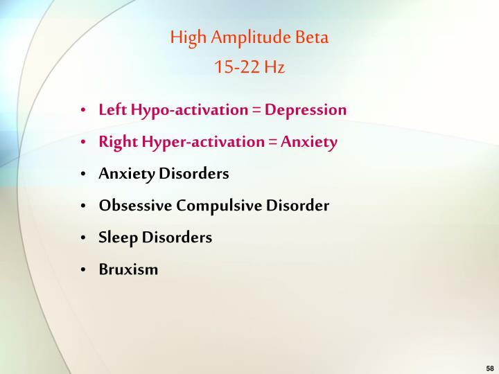 High Amplitude Beta