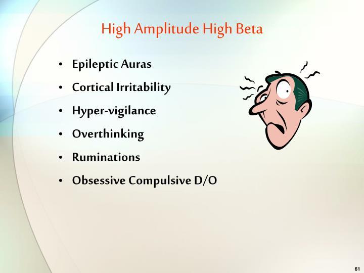 High Amplitude High Beta