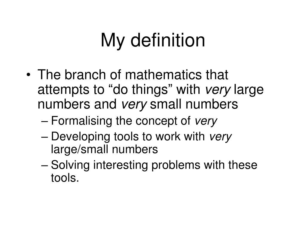 My definition
