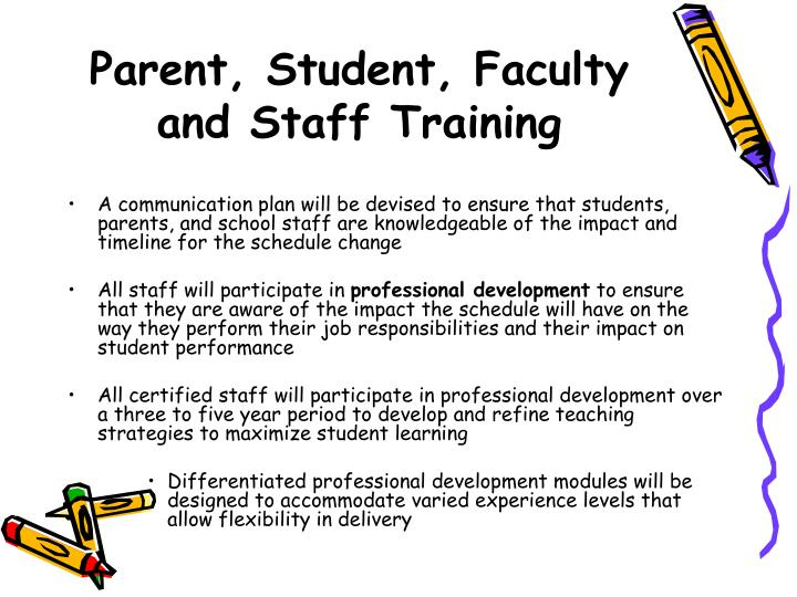 Parent, Student, Faculty and Staff Training