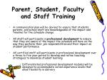 parent student faculty and staff training