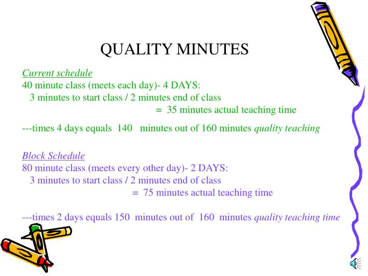 QUALITY MINUTES