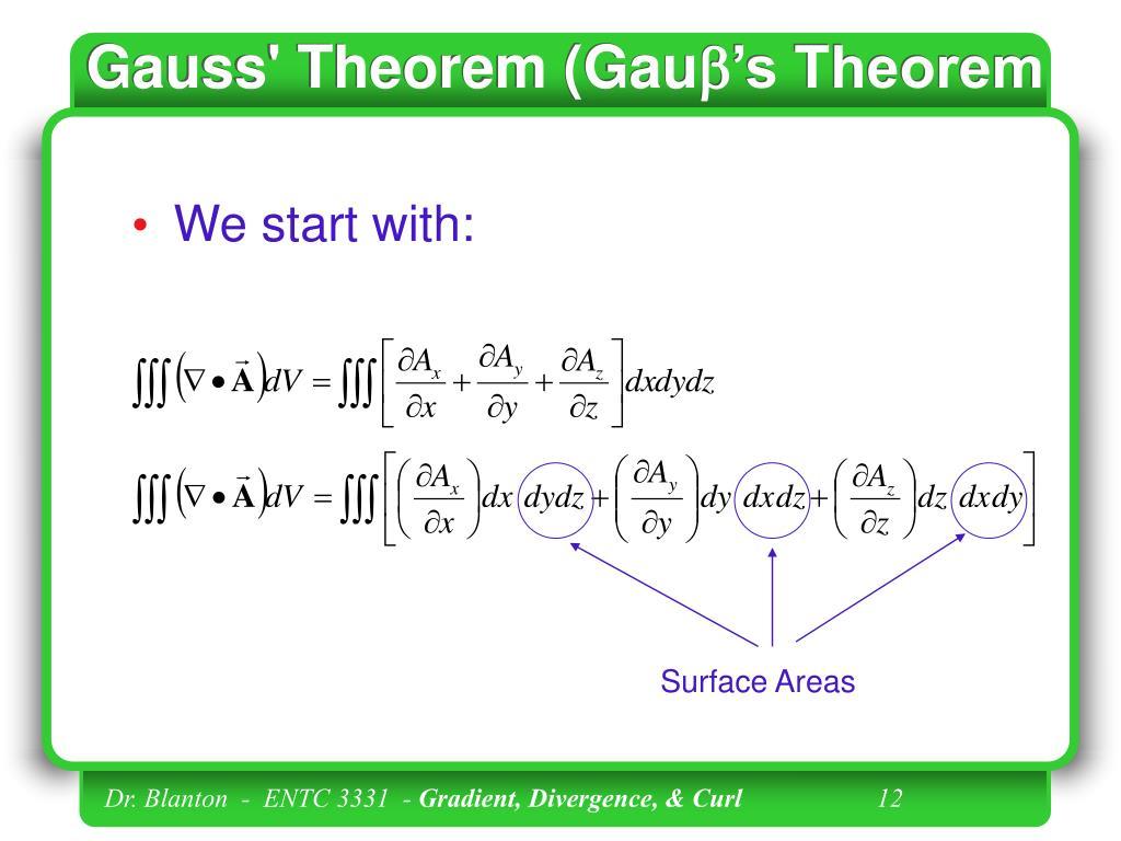 Gauss' Theorem (Gau