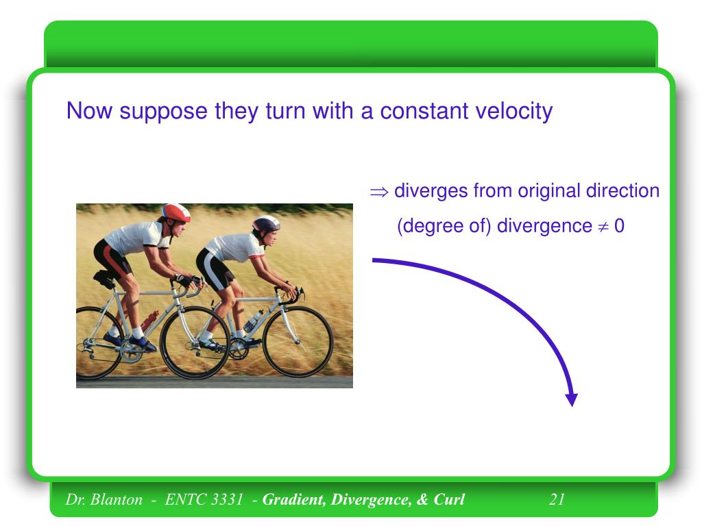 Now suppose they turn with a constant velocity