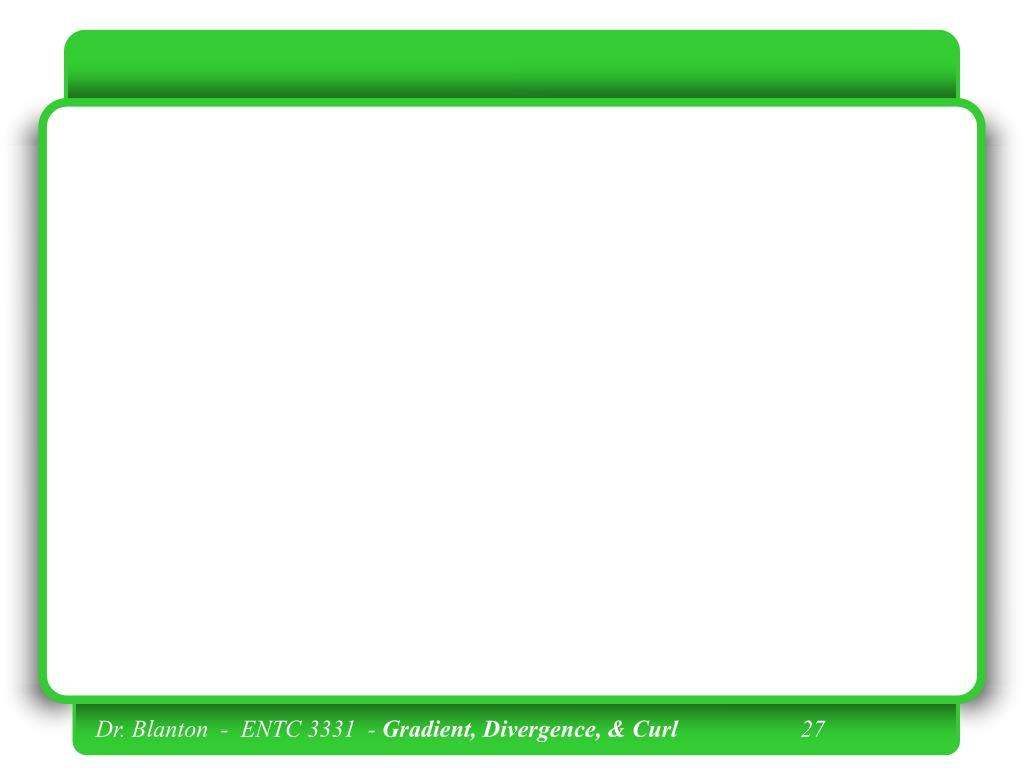 Dr. Blanton  -  ENTC 3331  -