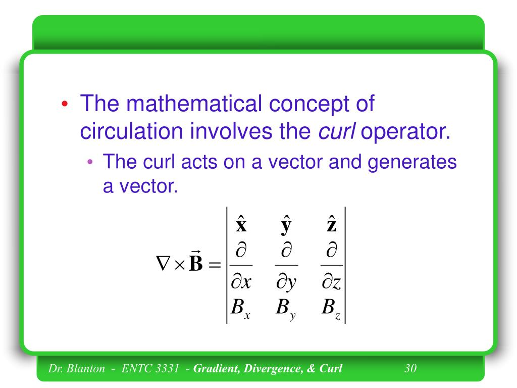 The mathematical concept of circulation involves the