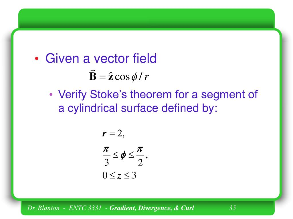 Given a vector field