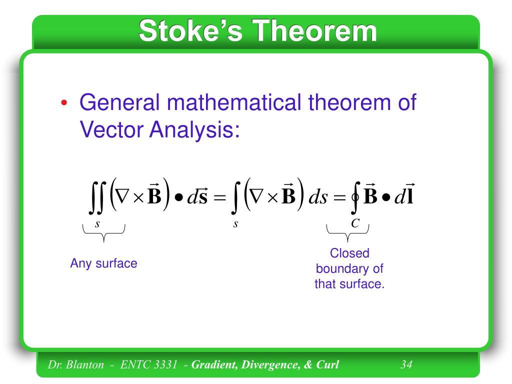 Stoke's Theorem