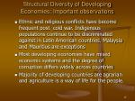 structural diversity of developing economies important observations13