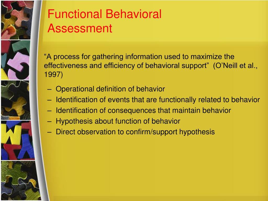 Functional Behavioral