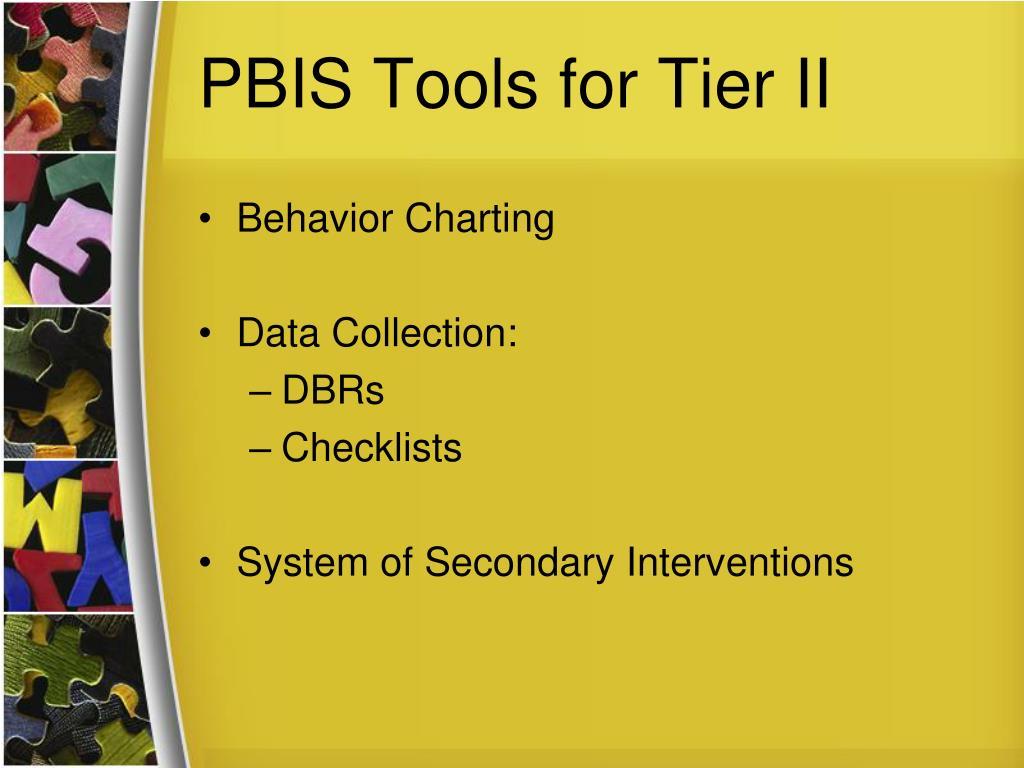 PBIS Tools for Tier II