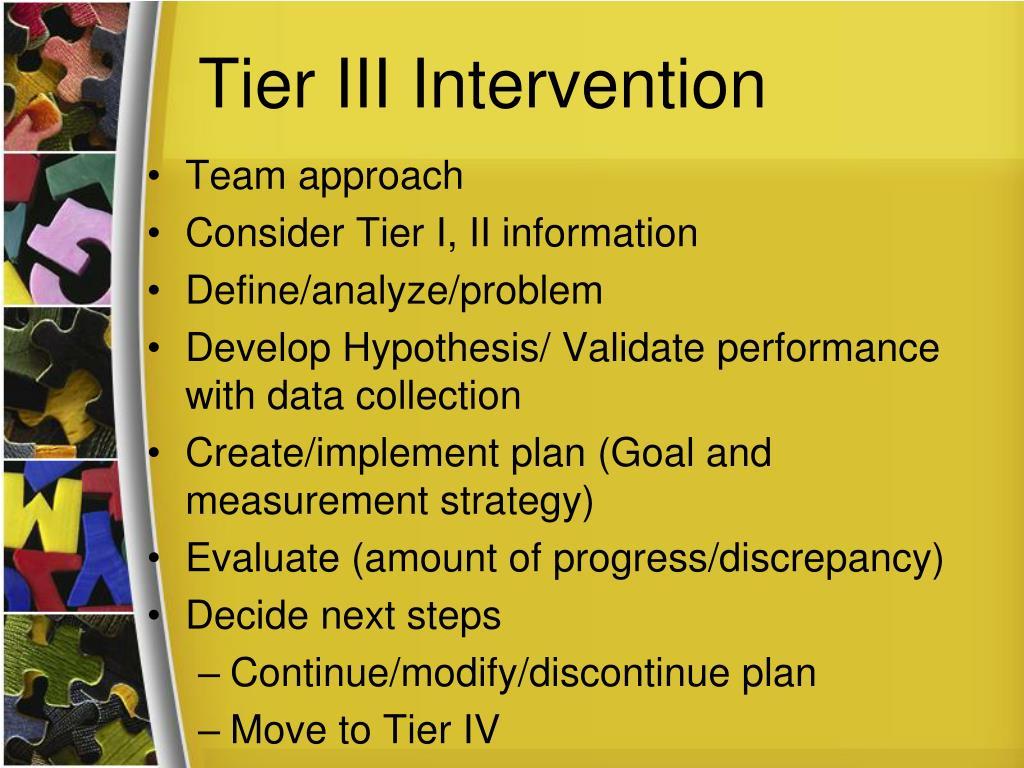 Tier III Intervention