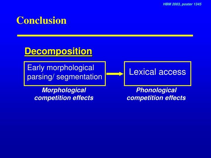 Early morphological parsing/ segmentation
