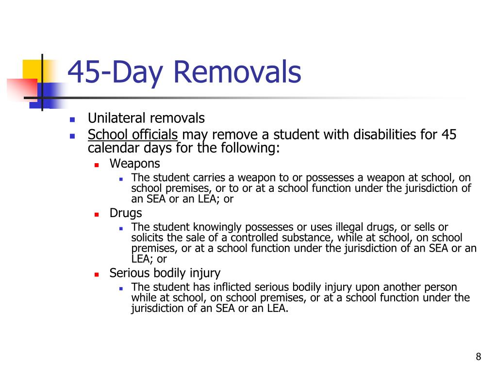 45-Day Removals
