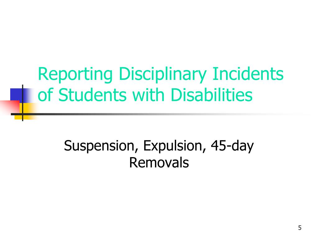 Reporting Disciplinary Incidents of Students with Disabilities