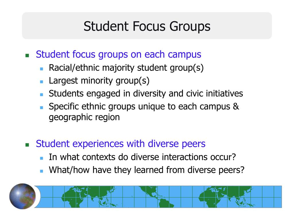 Student Focus Groups