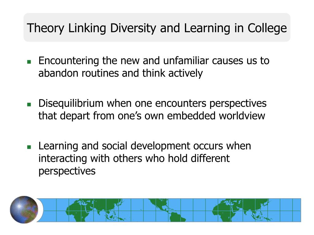 Theory Linking Diversity and Learning in College