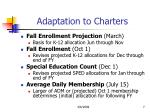 adaptation to charters