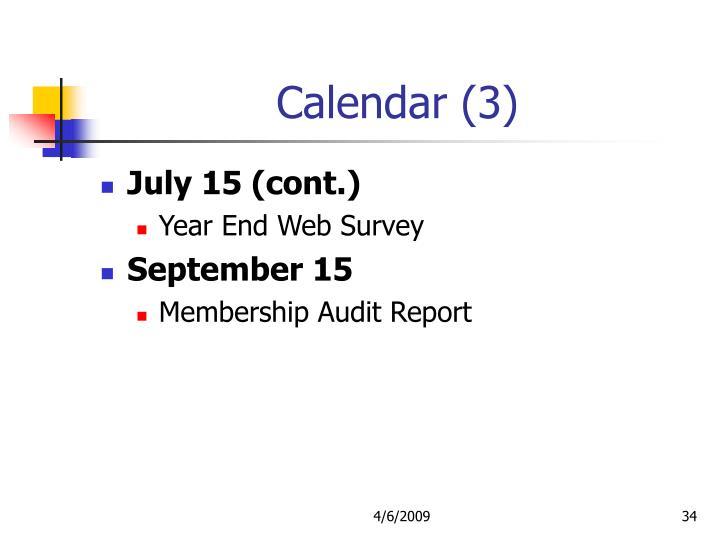 Calendar (3)