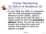charter membership by district of residence 3