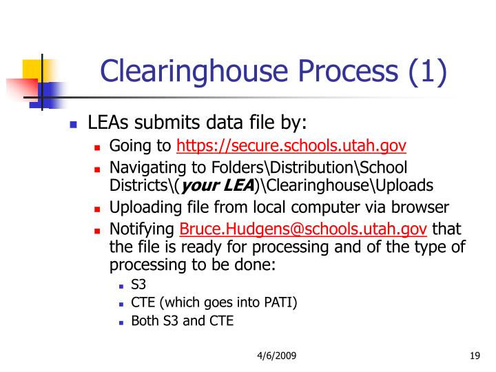 Clearinghouse Process (1)