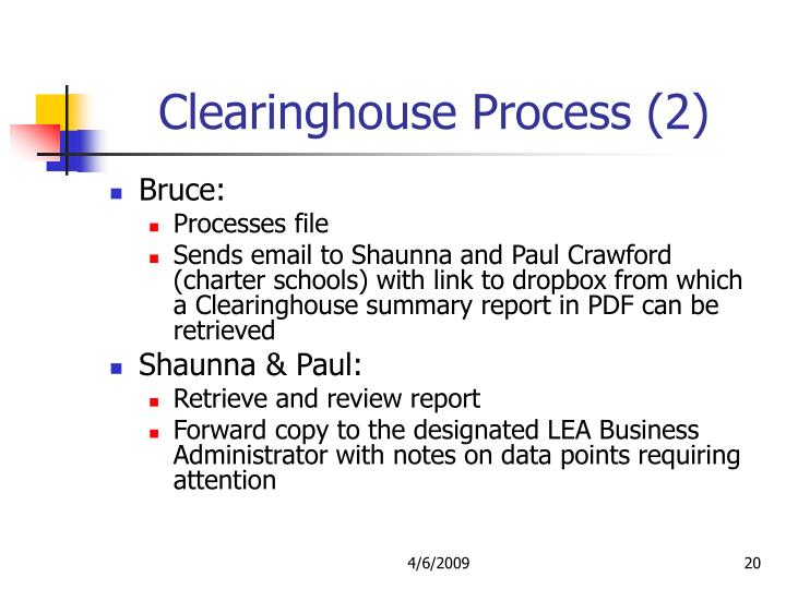 Clearinghouse Process (2)