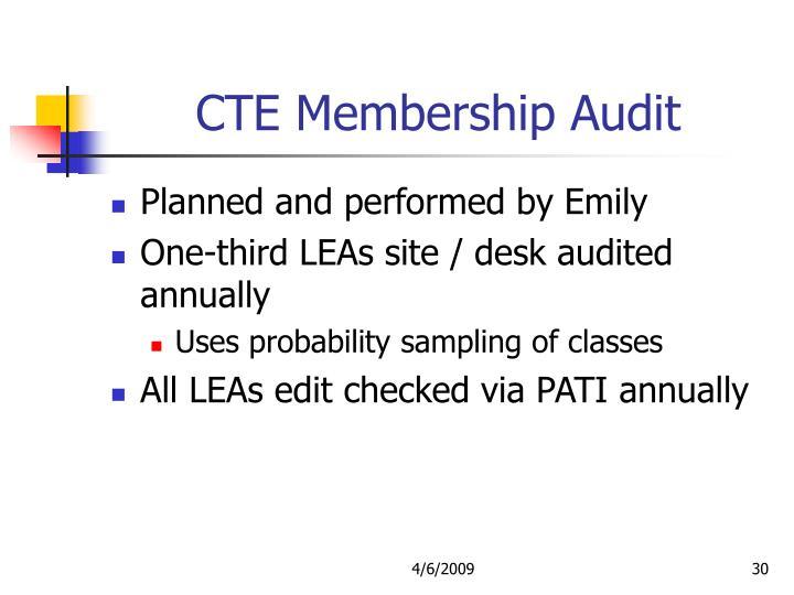CTE Membership Audit