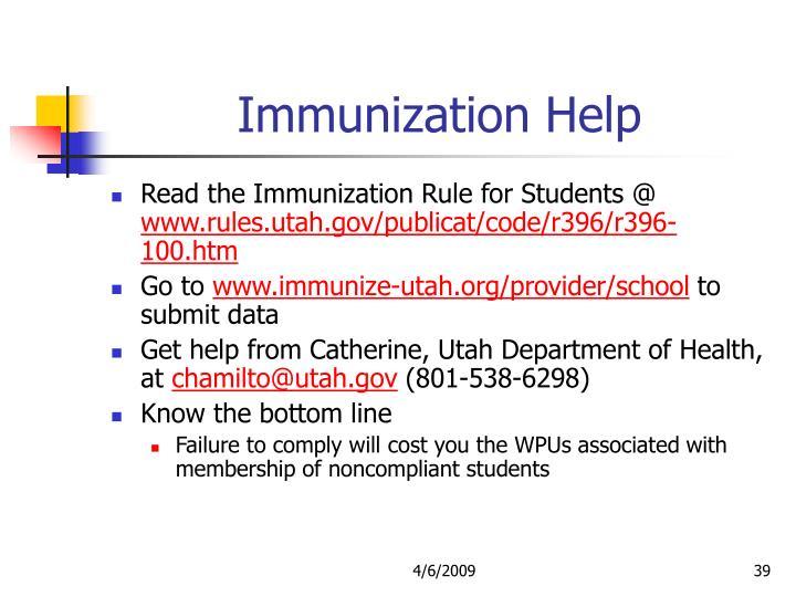 Immunization Help