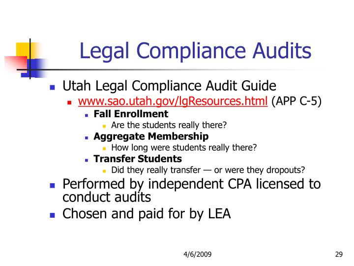 Legal Compliance Audits