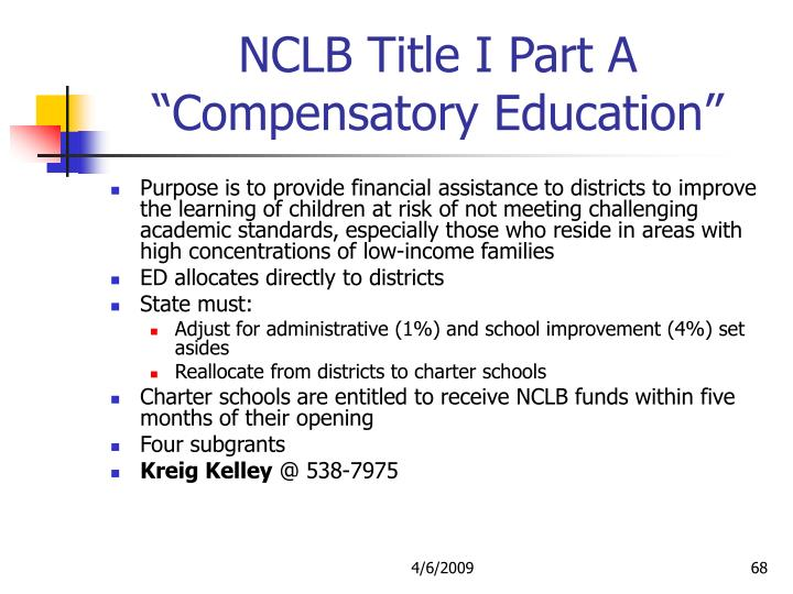 NCLB Title I Part A