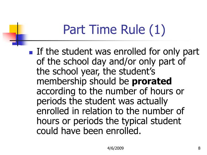 Part Time Rule (1)
