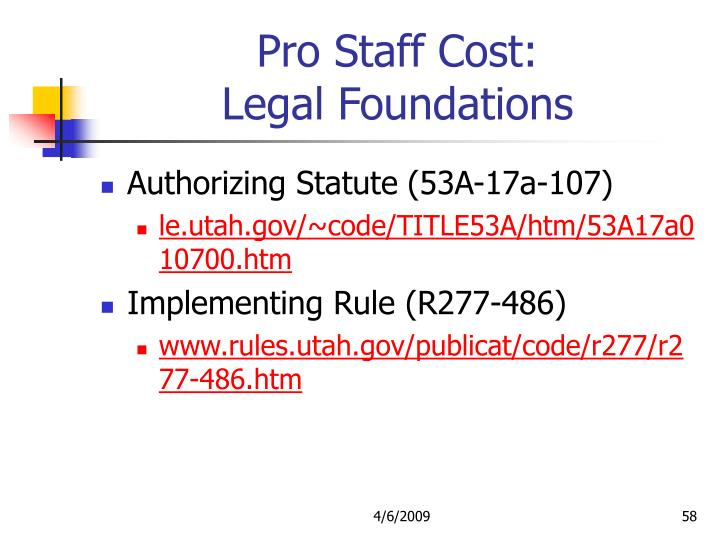 Pro Staff Cost: