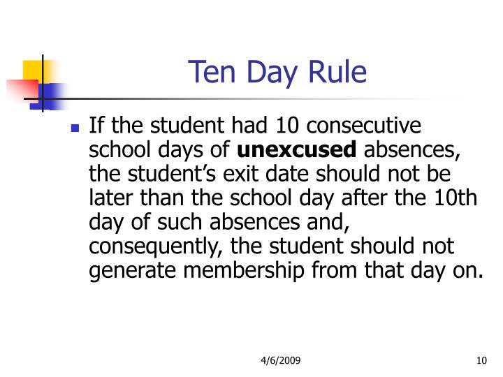 Ten Day Rule