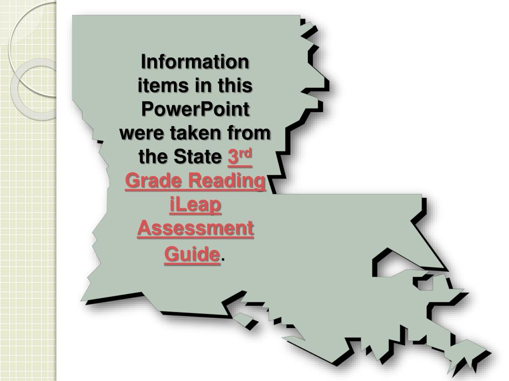 Information items in this PowerPoint were taken from the State