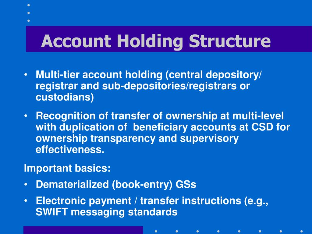 Account Holding Structure