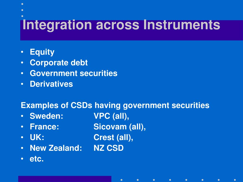 Integration across Instruments