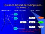 distance based decoding rules e g hamming l 1