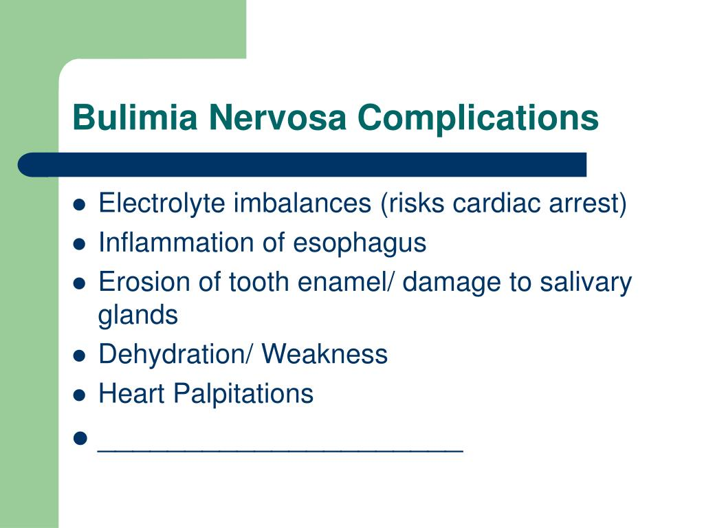 Bulimia Nervosa Complications