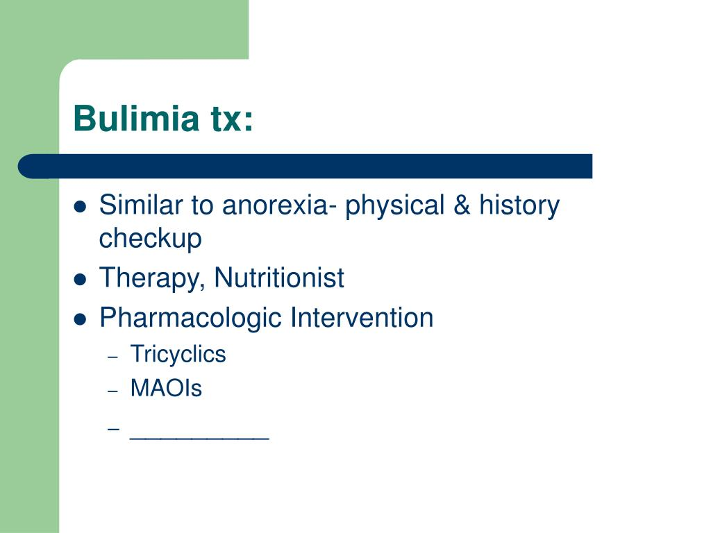 Bulimia tx: